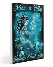 Mermaid - Music is What Feelings Sound Like Gallery Wrapped Canvas Prints tile