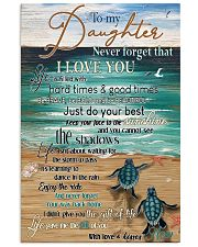 Turtle To My Daughter Never Forget 11x17 Poster front