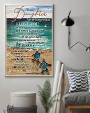 Turtle To My Daughter Never Forget 11x17 Poster lifestyle-poster-1