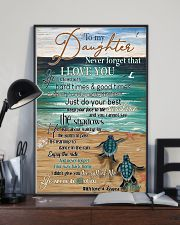 Turtle To My Daughter Never Forget 11x17 Poster lifestyle-poster-2