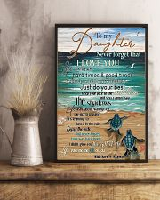 Turtle To My Daughter Never Forget 11x17 Poster lifestyle-poster-3