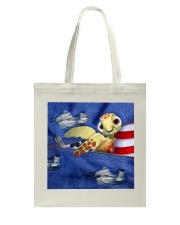 Turtle Denim Style Tote Bag tile