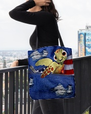 Turtle Denim Style All-over Tote aos-all-over-tote-lifestyle-front-05
