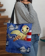Turtle Denim Style All-over Tote aos-all-over-tote-lifestyle-front-09
