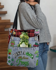 Just A Girl Who Loves Frogs  All-over Tote aos-all-over-tote-lifestyle-front-09