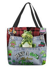 Just A Girl Who Loves Frogs  All-over Tote back