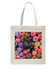 Black Cat wool Rolls Tote Bag thumbnail