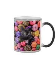 Black Cat wool Rolls Color Changing Mug thumbnail