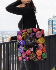 Black Cat wool Rolls All-over Tote aos-all-over-tote-lifestyle-front-05