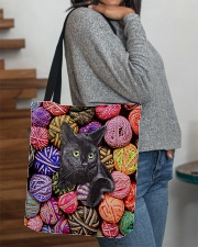 Black Cat wool Rolls All-over Tote aos-all-over-tote-lifestyle-front-09