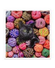 Black Cat wool Rolls Sticker - Single (Vertical) thumbnail