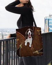 English Spinger Spaniel All-over Tote aos-all-over-tote-lifestyle-front-05