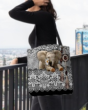 Elephant Amigurumi  All-over Tote aos-all-over-tote-lifestyle-front-05