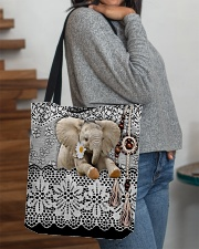 Elephant Amigurumi  All-over Tote aos-all-over-tote-lifestyle-front-09
