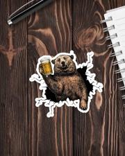 Bear Drink Beer Crack St Sticker - Single (Vertical) aos-sticker-single-vertical-lifestyle-front-05