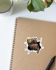 Bear Drink Beer Crack St Sticker - Single (Vertical) aos-sticker-single-vertical-lifestyle-front-16
