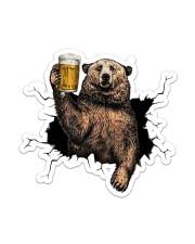 Bear Drink Beer Crack St Sticker - Single (Vertical) front