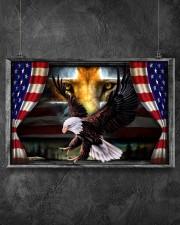 Eagle Jesus Flag  17x11 Poster aos-poster-landscape-17x11-lifestyle-12