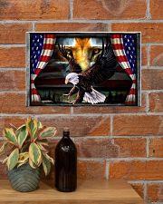 Eagle Jesus Flag  17x11 Poster poster-landscape-17x11-lifestyle-23