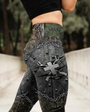 Hunting Cross American Flag Legging High Waist Leggings aos-high-waist-leggings-lifestyle-11