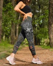 Hunting Cross American Flag Legging High Waist Leggings aos-high-waist-leggings-lifestyle-20