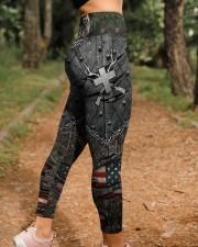 Hunting Cross American Flag Legging High Waist Leggings aos-high-waist-leggings-lifestyle-21