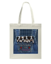 St Bernard Life Is Better Tote Bag tile
