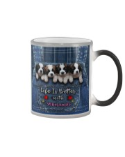 St Bernard Life Is Better Color Changing Mug tile