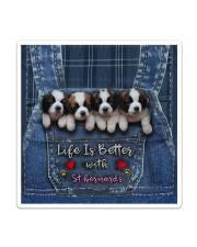 St Bernard Life Is Better Sticker - Single (Vertical) thumbnail