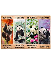 Panda - Be Strong 17x11 Poster front
