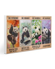 Panda - Be Strong Gallery Wrapped Canvas Prints tile