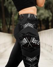 Racing Carbon Flag Crack Leggings High Waist Leggings aos-high-waist-leggings-lifestyle-11