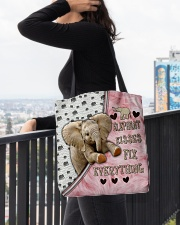Elephant Kisses Fix Everything Bag All-over Tote aos-all-over-tote-lifestyle-front-05