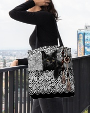Black Cat Amigurumi  All-over Tote aos-all-over-tote-lifestyle-front-05