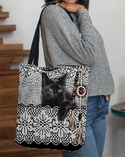 Black Cat Amigurumi  All-over Tote aos-all-over-tote-lifestyle-front-09