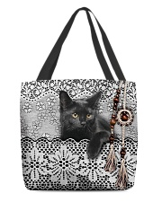Black Cat Amigurumi  All-over Tote front