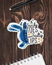 Turtle - Sandy Toes And Salty Lips Sticker - 6 pack (Horizontal) aos-sticker-6-pack-horizontal-lifestyle-front-05