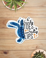 Turtle - Sandy Toes And Salty Lips Sticker - 6 pack (Horizontal) aos-sticker-6-pack-horizontal-lifestyle-front-07
