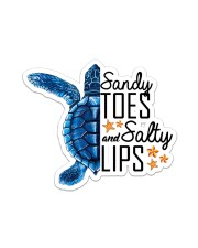 Turtle - Sandy Toes And Salty Lips Sticker tile
