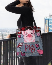 Pig Lover All-over Tote aos-all-over-tote-lifestyle-front-05