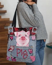 Pig Lover All-over Tote aos-all-over-tote-lifestyle-front-09