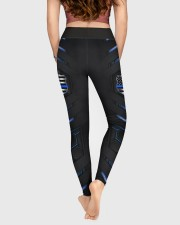 Police Blue Pattern Legging High Waist Leggings aos-high-waist-leggings-lifestyle-05