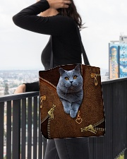 Bristish Shorthair Cat  All-over Tote aos-all-over-tote-lifestyle-front-05
