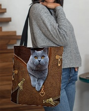 Bristish Shorthair Cat  All-over Tote aos-all-over-tote-lifestyle-front-09