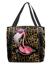 Flamingo - Leopard - Zip Pocket All-over Tote front