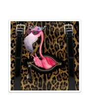 Flamingo - Leopard - Zip Pocket Sticker - Single (Vertical) thumbnail
