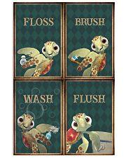 Turtle - Flosh Brush Wash Flush 11x17 Poster front