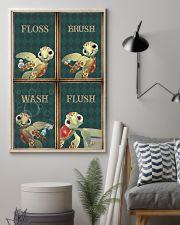 Turtle - Flosh Brush Wash Flush 11x17 Poster lifestyle-poster-1