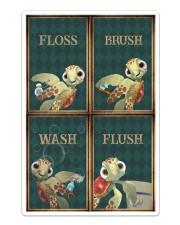 Turtle - Flosh Brush Wash Flush Sticker - Single (Vertical) thumbnail