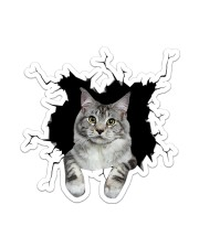 Maine Coon Crack Sticker - Single (Vertical) front